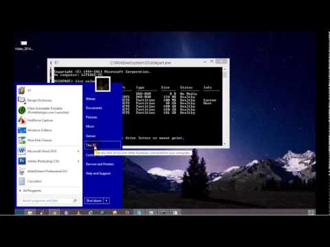 How to Hide / Unhide Hard Drive Partition on windows XP, 7, 8