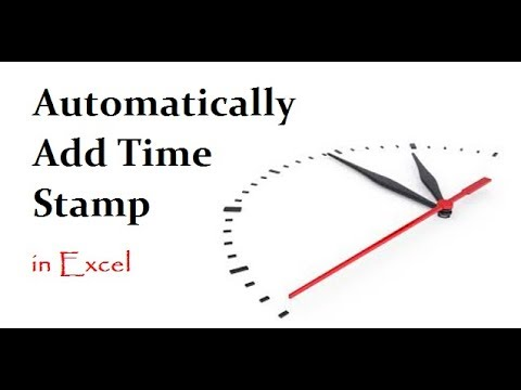 How to set Automatic Time and Date in Excel
