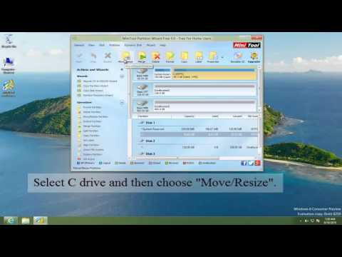 Shrink Windows 7,8,10 C Drive Free -MiniTool Partition Wizard