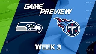 Seattle Seahawks vs. Tennessee Titans | Week 3 Game Preview | NFL Playbook