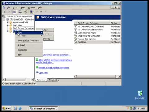 Configuring FTP and Web Server on Windows 2003.mp4