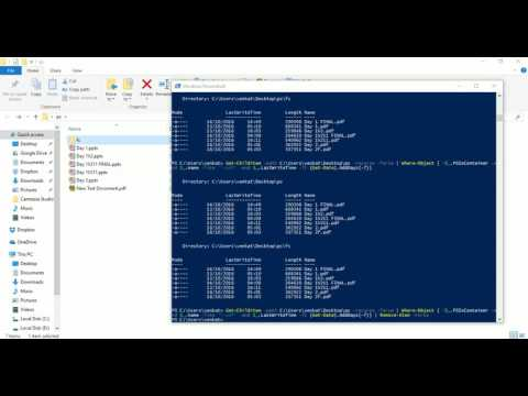 PowerShell delete files older than extension