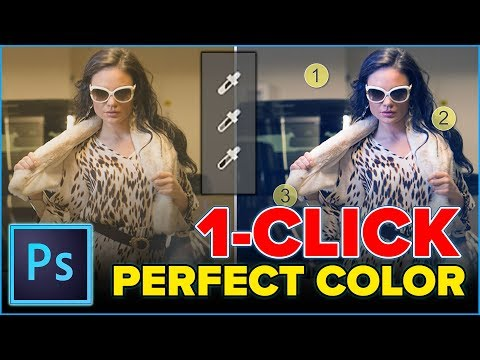 PERFECT COLOR in PHOTOSHOP in 1 click (eyedropper)