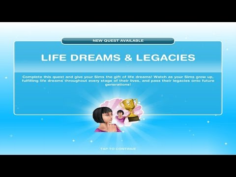 Sims Freeplay Life Dreams and Legacies Quest