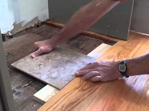 How to Make Tile Flush with Hardwood Floor