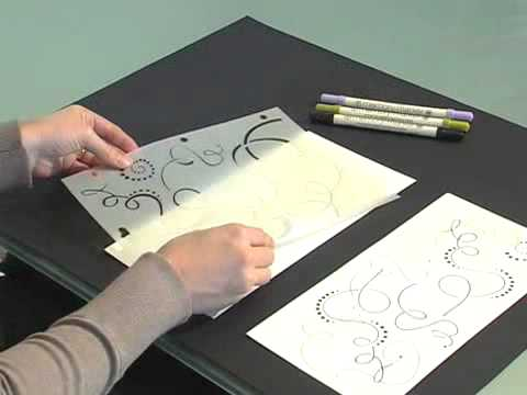 Scrapbook.TV - How to Use a Doodling Template