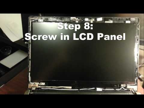 How to Replace LCD Screen Acer TimelineX 4820TG Laptop Screen Replacement