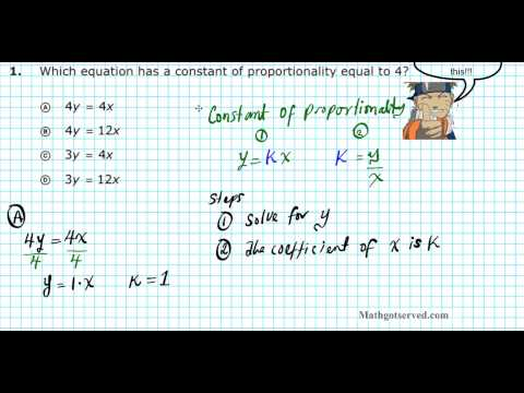 How to Find Constant of Proportionality