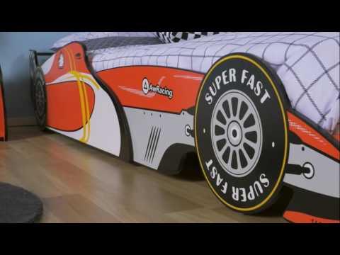 Fantastic Furniture - Kids Speedy Racing Car Bed