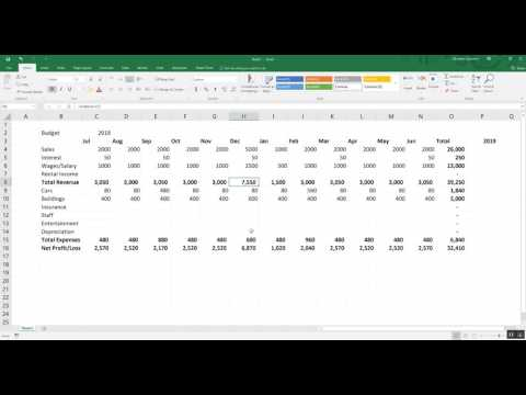 Budgeting Tools: Ep1 Creating a Simple Budget in Excel