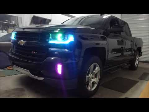 Silverado RGB Extravaganza!  Headlights & Foglights & Rock Lights & Interior Lighting