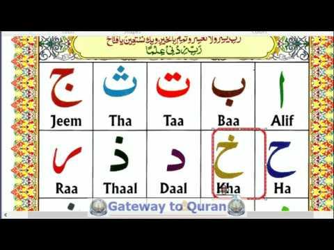 Learn to read Quran with Tajweed Qaida Lesson 01 Part 1 Arabic Alphabets Nuraniyah