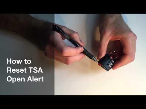 How to Set TSA Combination Lock