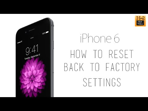 iPhone 6 - How to Reset Back to Factory Settings | H2TechVideos