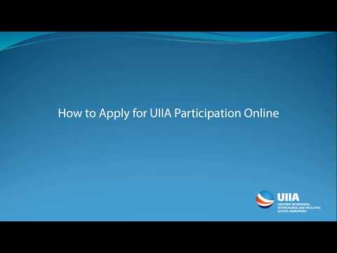 How to apply  online for UIIA participation
