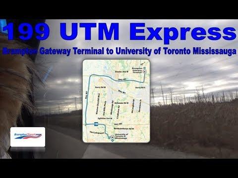 199 UTM Express - Brampton Transit 2012 New Flyer XD40 1212 (Brampton Gateway Terminal to UTM)