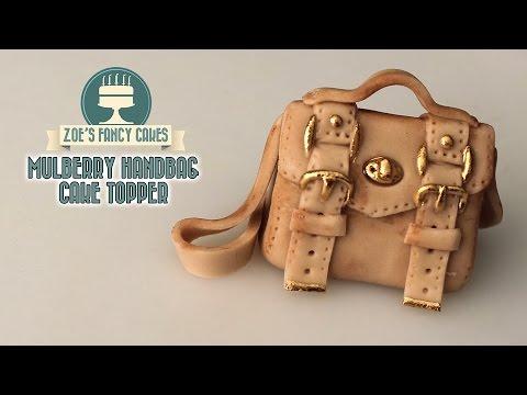 Mini handbag cake topper Mulberry