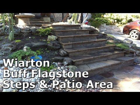Wiarton Buff Flagstone Steps & Patio Area - Smith's Stone Masonry
