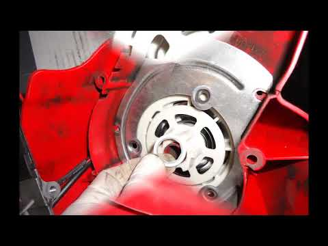 replacing starter pulley on a troy bilt brush cutter