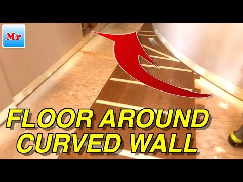 Easy Trick How to Install Hardwood or Laminate Flooring around Curved Walls