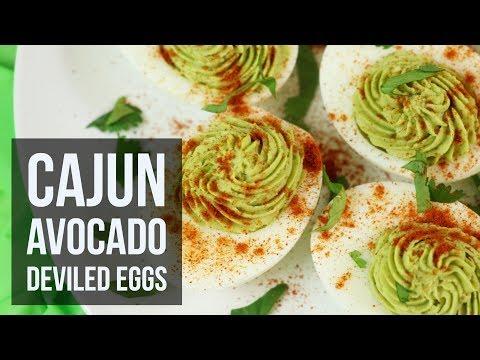 Cajun Avocado Deviled Eggs | Easy Low Carb Snack Recipe by Forkly