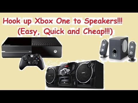 Xbox One Sound on Logitech or External Stereo Speakers - Quick, Easy and Cheap!