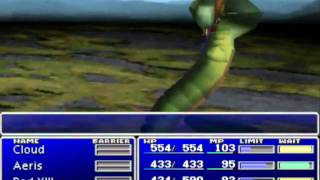 Final Fantasy 7 Beta Enemy skill early in game