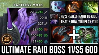 This Void is Absolutely on Fire!!! Ultimate Raid Boss 1Vs5 with Satanic + Assault Cuirass DotA 2