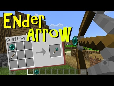 Working ENDER ARROW in MCPE 1.1 | No Mods, No Addons | Minecraft PE Command Block Trick