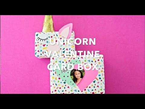 DIY Unicorn Valentine Card Box