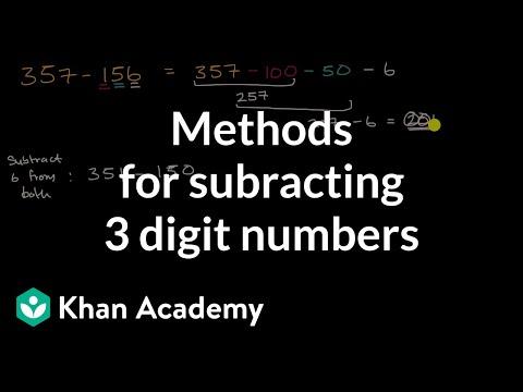 Methods for subracting 3 digit numbers