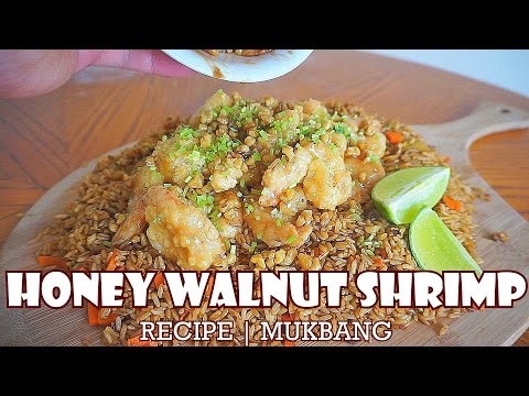 Honey Walnut Shrimp Recipe   MUKBANG   QT