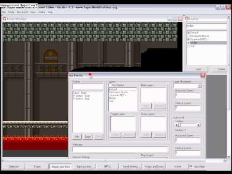 SMBX Tutorial: SMB1 Castle / boss battles / music changes / screen locks / firebars
