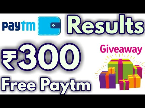 ₹300 Paytm Cash Giveaway Results🔥🔥🔥