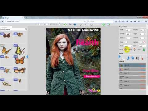 Create Magazine cover online