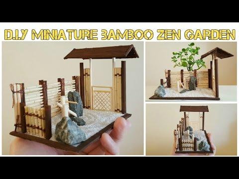 DIY Mini Asian Bamboo Zen Garden