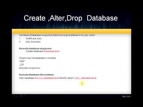 SQL Dersleri- CREATE-ALTER-DROP Database