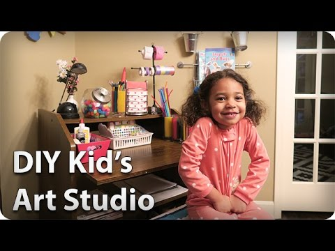 DIY Kid's Art Studio