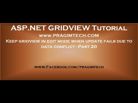 Keep gridview in edit mode when update fails due to data conflict - Part 20
