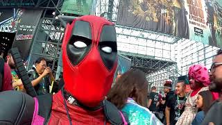 Deadpool New York ComicCon Cosplay NYCC 2017 pt 2