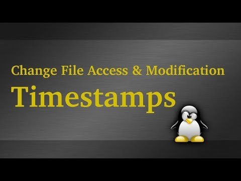 Change File Access And Modification Date & Time