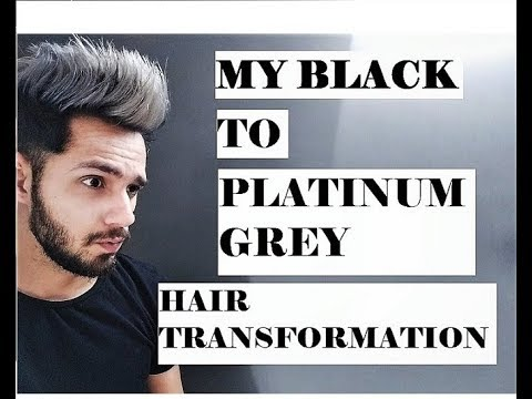 MY BLACK TO PLATINUM GREY HAIR TRANSFORMATION |  How to: Black to Silver Hair - Step by Step