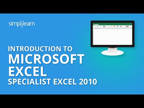 Introduction to Microsoft Office Specialist Excel 2010| MS Excel 2010 Certification Training Online