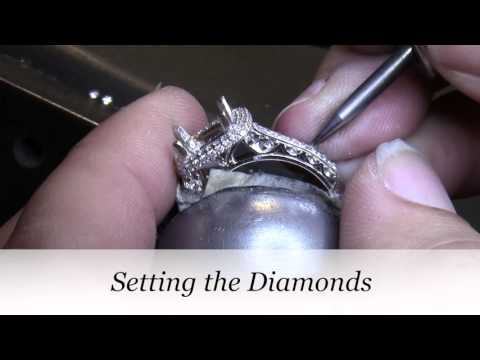 Cushion Cut Halo Engagement Ring - Making Carrie's Custom Engagement Ring - Vanessa Nicole Jewels