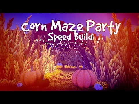 Corn Maze Party // Speed Build // The Sims 4
