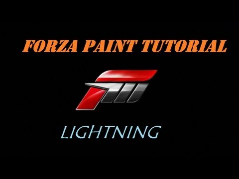 Forza 4 Painting Tutorial- Easy Lightning Pattern
