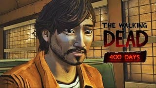 NEW The Walking Dead 400 Days Gameplay Walkthrough Part 1 of The Walking Dead Game for Xbox 360, Playstation 3 and PC. This The Walking Dead 400 Days Gameplay Walkthrough will include all characters: Russell, Bonnie, Vince, Shel, and Wyatt along with the Ending of each Story.    Subscribe: http://www.youtube.com/subscription_center?add_user=theRadBrad Twitter: http://twitter.com//thaRadBrad Facebook: http://www.facebook.com/theRadBrad  The Walking Dead: 400 Days is an all-new DLC and special episode for Season 1 of The Walking Dead Video Game. 400 Days is an episode between seasons, that will bridge the gap between your choices in Season 1, and the events of the upcoming Season 2. It will be one episode focusing on five different protagonists: Russell, Bonnie, Vince, Shel, and Wyatt.  Centered on a truck stop on a Georgia highway, 400 Days tells five linked stories; each taking place at different points in time and from the point of view of a different survivor, from day one of the undead apocalypse to day 400. The five stories can be played in any order and will change based on the choices that you make. Echoes of the choices you made in Season 1 will carry over into 400 Days and the choices you make in 400 Days will resonate into Season 2. At the end of 400 Days, the stories will all be wrapped up and leave a few hints towards what we can expect to see from Season 2.   The Walking Dead Video Game is an episodic video game based on Robert Kirkman