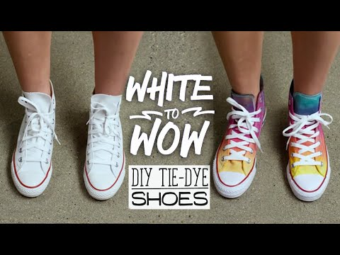 White to Wow: DIY Tie-Dye Shoes