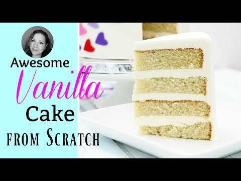 Vanilla Cake Recipe from scratch / step by step