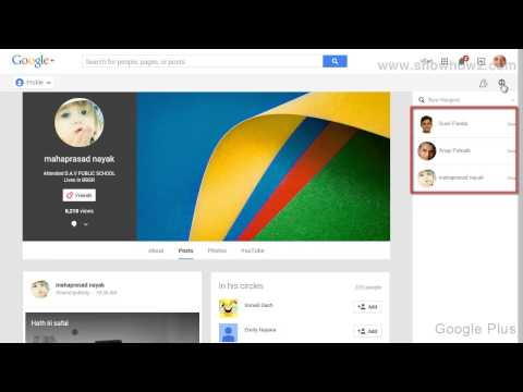 Google+ - How To Send A Message From Recent Chats